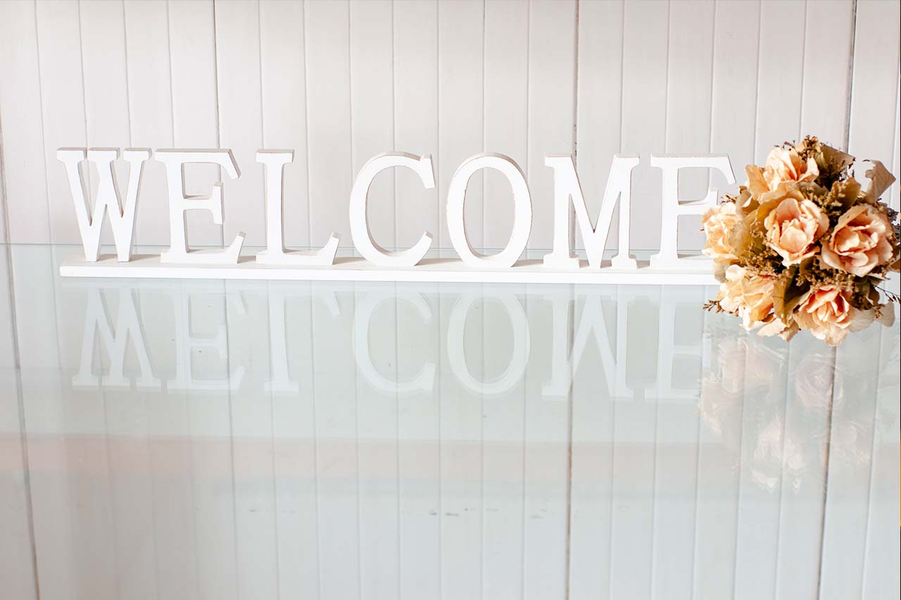 welcome messsage